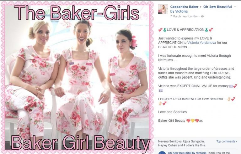 The Baker-Girls team review of their team uniforms made by Oh Sew Beautiful by Victoria